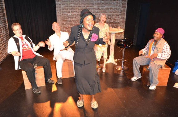 Deidrie-Henry-center-Travis-Michael-Holder-Jan-Munroe-Judy-Jean-Burns-and-L.-Trey-Wilson-in-The-Katrina-Comedy-Fest-at-the-Lounge-Theatre-as-part-of-Hollywood-Fringe-Festival-2013.-Photo-by-Rob-Florence.